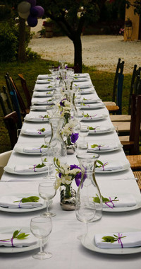 table setting for wedding in italy at borgo belfiore